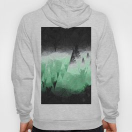 Modern Abstract Green Mountain Design Hoody