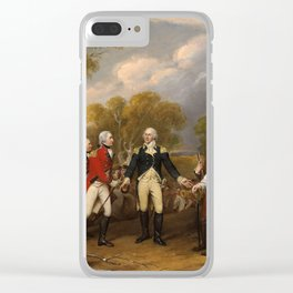 Surrender of General Burgoyne by John Trumbull (1821) Clear iPhone Case