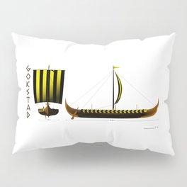 Gokstad Viking Ship Pillow Sham