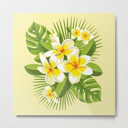 Tropical Bouquet. Plumeria Metal Print