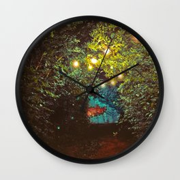Follow the Lights (Color) Wall Clock