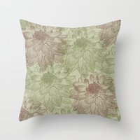 peonies Throw Pillows featuring Peonies by Zen and Chic