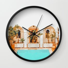 Turkish Holiday #painting #travel Wall Clock