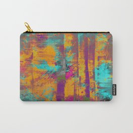 Burst Of Energy! - Abstract, orange, blue, pink, purple and green oil painting  Carry-All Pouch