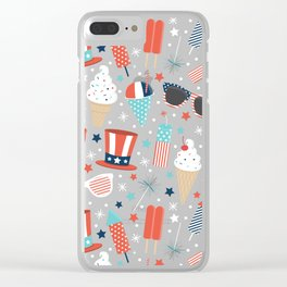 American Summer Clear iPhone Case