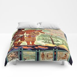 Vintage poster - Philippines Comforters