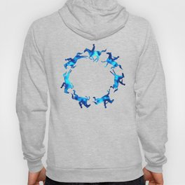 Showjumping Horse Sequence (Blue) Hoody