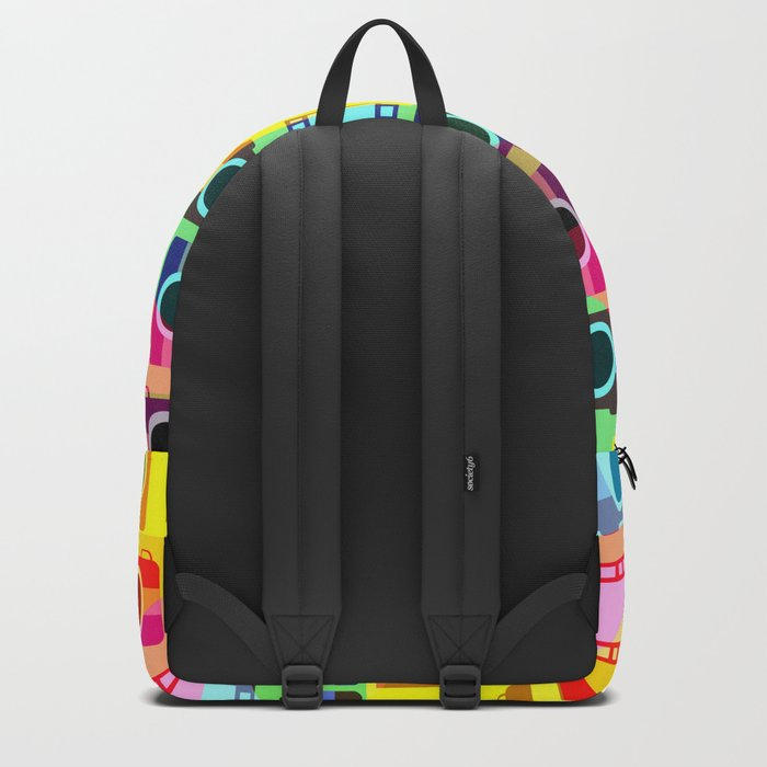 Colorful camera pattern Backpack