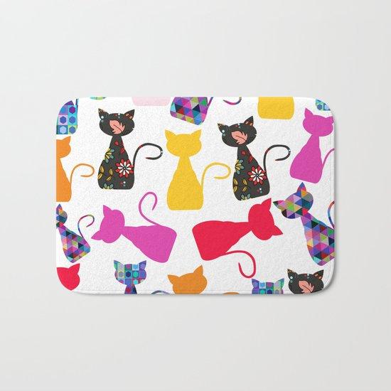 Cats pattern #4 Bath Mat