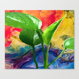 Abstract Pothos Canvas Print