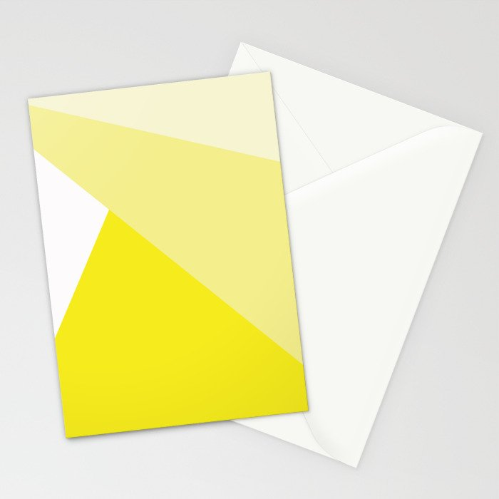 Simple Geometric Triangle Pattern - White on Yellow - Mix & Match with Simplicity of life Stationery Cards