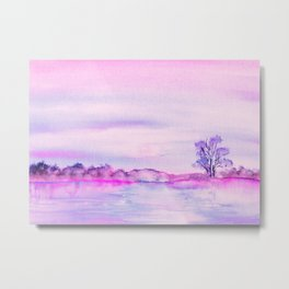 View from the riverbank Metal Print