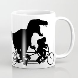 Gone Squatchin cycling with T-rex Coffee Mug
