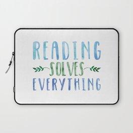 Reading Solves Everything (Green/Blue) Laptop Sleeve