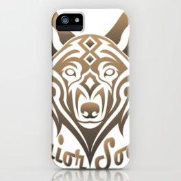 Warrior Society (Wolf) iPhone Case