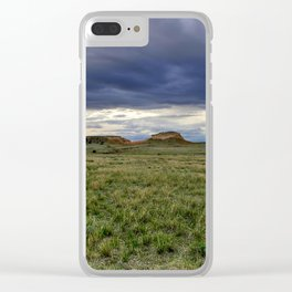 Pawnee Buttes Cloudscape Clear iPhone Case