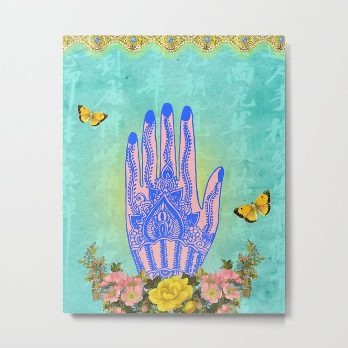 Hand of All Knowing Metal Print