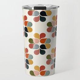 Retro geometry pattern Travel Mug