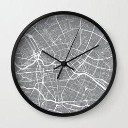 Grey City Map of Berlin, Germany Wall Clock