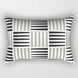 Midcentury crosshatch pattern Rectangular Pillow
