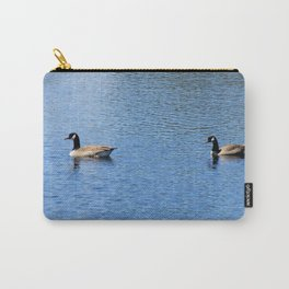 Pair of Geese Wading On A Lake Carry-All Pouch