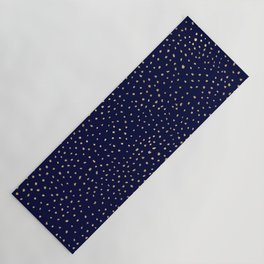 Dotted Gold & Midnight Yoga Mat