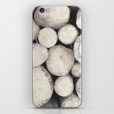 Stack of Wood iPhone & iPod Skin