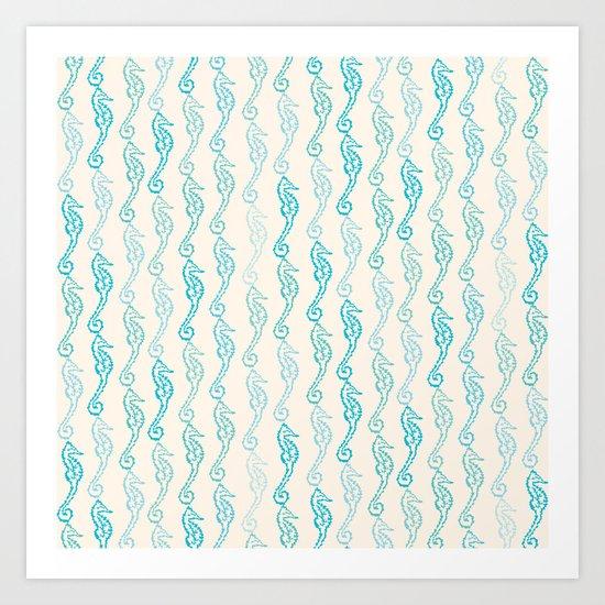 Pastel Marine Pattern 01 Art Print
