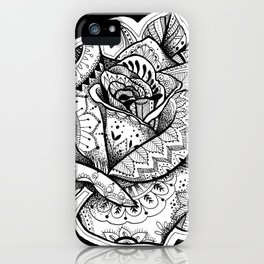 Henna Rose Tattoo iPhone Case