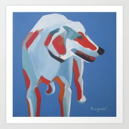 Laughing Dog Art Print