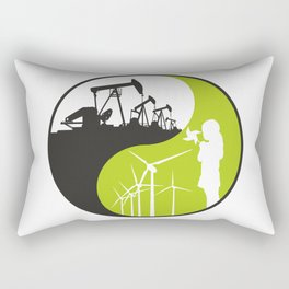 yin and yang - male and female principles Rectangular Pillow