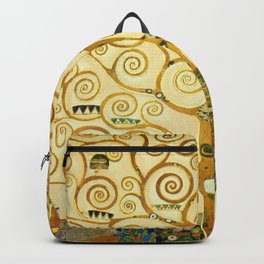 Gustav Klimt The Tree Of Life Backpack