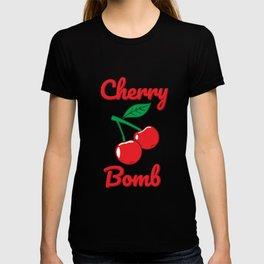 Cherry Bomb Retro Vintage Old Style design T-shirt