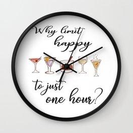Happy Hour Print Wall Clock