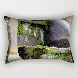 Mossy Fort Steps Rectangular Pillow