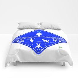 Jump Off Bridge Girl Invert Comforters