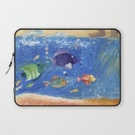 Salty Toes, Slippery Fish. Laptop Sleeve