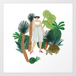 Man and Woman Hula Dancers - Royalty Free Clip Art Illustration