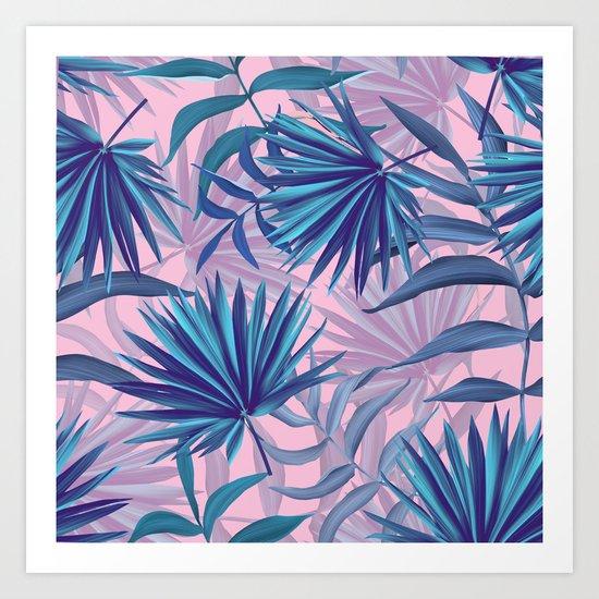 pink tropic  Art Print
