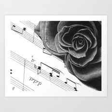 Music and Romance Art Print