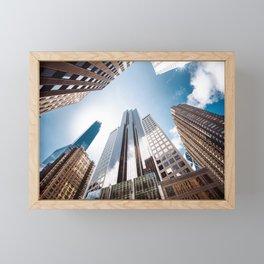 manhattan building low angle view Framed Mini Art Print