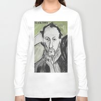 writer Long Sleeve T-shirts featuring Writer by black door
