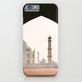Taj Mahal travelphoto at sunset in Agra, India  iPhone Case
