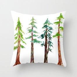 Tall Trees Please Throw Pillow
