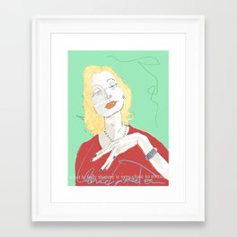 Clarice Lispector Framed Art Print