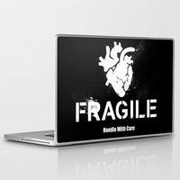 anatomical heart Laptop & iPad Skins featuring Fragile Anatomical Heart(INVERT) by J ō v