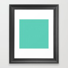 Mint spots pattern Framed Art Print