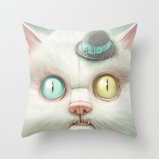 Release the Odd Kitty!!! Throw Pillow