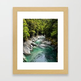 Blue Pools, Haast Pass Framed Art Print
