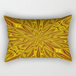 Luxury Red and Gold Foil Christmas Kaleidescope Rectangular Pillow